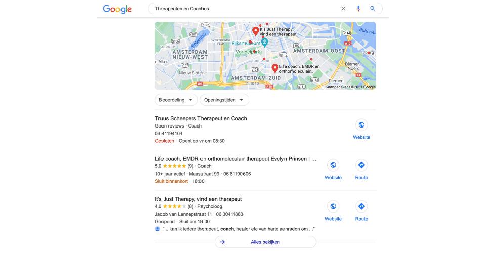 Is Google mijn Bedrijf belangrijk
